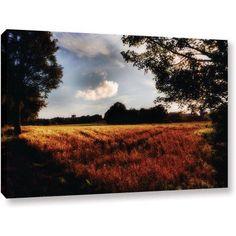 ArtWall John Black Farmville Gallery-Wrapped Canvas, Size: 16 x 24, Blue