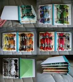 embroidery floss organizer by lori hutchinson, via Flickr