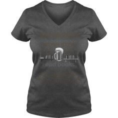 I Just Want To Drink Beer, Read Books and Get Tattoed - Ladies V-Neck Tee - Dark Grey