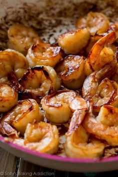 Easy, healthy, and on the table in about 20 minutes! Honey garlic shrimp recipe on sallysbakingaddic. Shrimp Recipes Easy, Fish Recipes, Seafood Recipes, Cooking Recipes, Healthy Recipes, Frozen Cooked Shrimp, Sallys Baking Addiction, Shrimp Dishes, Garlic Shrimp