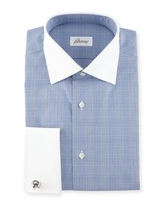 Shop men's dress shirts at Bergdorf Goodman. Stock up on these elegant and easy to wear dress shirts for any nice occasion. Best Dress Shirts, Dress Shirt And Tie, Dress Shirts For Women, Men Dress, Men Shirts, Dress Shoes, Blue Shirt White Collar, French Cuff Shirts, Mens Attire
