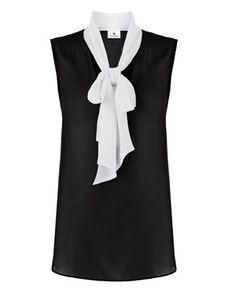 Altuzarra for Target Sleeveless Sheer Bow Blouse