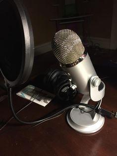 Dr. Baker's new podcasting mic