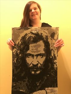 Perler Beads Sirius Black from Harry Potter Made by Kelsey Flaherty