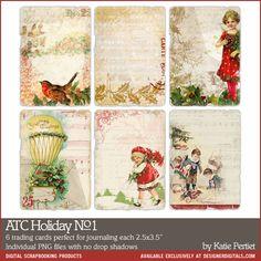 ATC Cards: Holiday No. 01