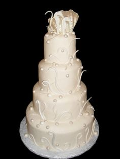 Seahorse Feather by Just Desserts Just Desserts, Delicious Desserts, Party Themes, Theme Ideas, Party Ideas, Beach Party, Beautiful Cakes, Eat Cake, Wedding Cakes