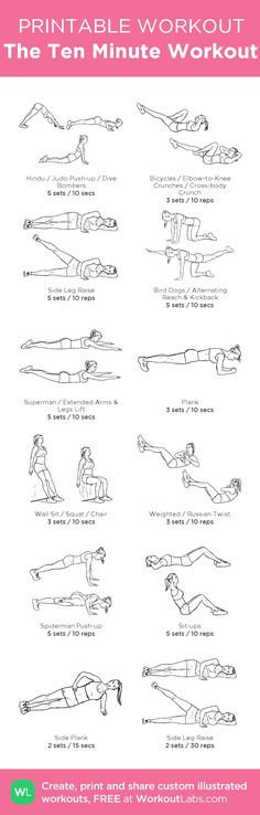 The Ten Minute Workout (Fitness Workouts Abs) Fitness Workouts, Fitness Diet, Fitness Motivation, Health Fitness, Belly Workouts, Floor Workouts, At Home Workouts, Floor Exercises, Ten Minute Workout