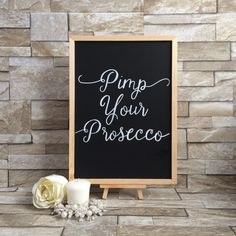 Pimp your Prosecco Wedding Chalkboard by PersonalisedChalks