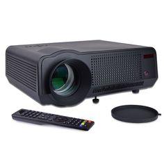 Multimedia LED Projector w/NTSC Tuner & HDMI - 1024x768 Native (1920x1080 max) 2700 Lumens 60- 120 Display (Black)