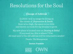 Resolution for the Soul