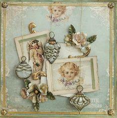 ooak vintage weihnachtskarte vintage cards. Black Bedroom Furniture Sets. Home Design Ideas