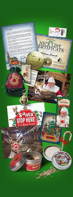 amaze your child with a personalized package from santa includes