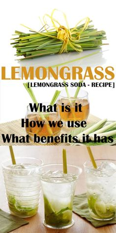 Lemongrass: What is it How we use and What benefits it has Lemongrass Recipes, Lemon Grass Tea Benefits, How To Detox Your Body Naturally, Best Cleanse, Dried Lemon, Soda Recipe, Diet Snacks, Herbal Remedies, Sodas