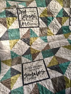"""Sawtooth Quotes made by Glenrose Patchwork. Fabrics used are """"Thrive"""" by Natalia and Kathleen of Piece N Quilt"""