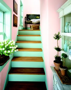 Paint your stairs for more color!