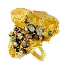 Nugget Pyrite Ring from Imogen Belfield – ImogenBelfieldLondon