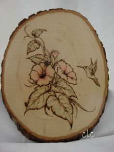 Hummingbird - Woodburning