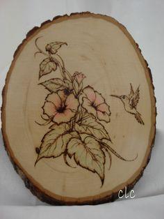 Hummingbird - Woodburning
