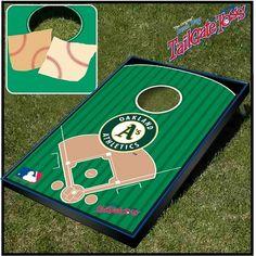 """Oakland Athletics MLB Tailgate Bean Bag Toss.....Hmmmmm... """"0)"""