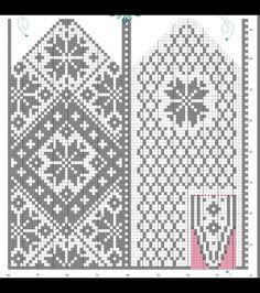"Вязание. Жаккард - ""Зимняя радуга"" Knitted Mittens Pattern, Fair Isle Knitting Patterns, Knit Mittens, Knitting Socks, Knitting Designs, Free Knitting, Wool Gloves, Mitten Gloves, Norwegian Knitting"
