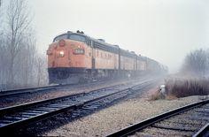 Milwaukee Railroad in the fog & rain