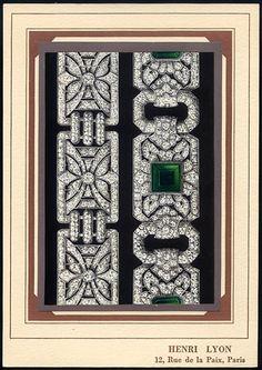 Henri Lyon (Jewels)  Plate (3)  Art Deco Style