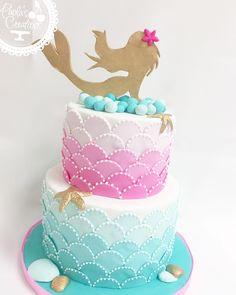 Mermaid inspired Cake #mermaid #mermaidcake #paolascreations #awesome #awesomecakes #customcakes #miami #miamicakes #yummy #yummycakes…