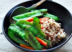 snow pea and rice