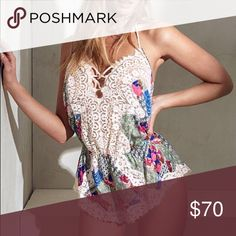 VS Floral Bali Patchwork Lace Romper So cute! Floral lace Romper. New with tags. Price firm. Absolute lowest. This is a rare find. If you love VS I have hundreds of NWT items in my closet. Victoria's Secret Intimates & Sleepwear