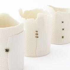 Tealight (3 Straight Stitches) — Brittany Delany Ceramics