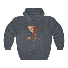 Support Equality - Hoodie - Heather Navy / M