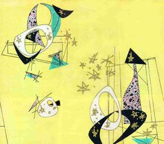 Celestial Lemon barkcloth MelinaMade how about this for curtains