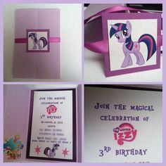 Twilight sparkle invitation, my little pony invitations