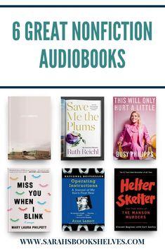 The Best Nonfiction Audiobooks I\'ve Listened to Lately: these nonfiction audiobooks for adults will captivate your ears. #books  #audiobooks