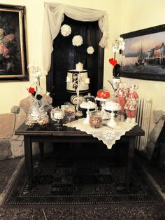 Il tavolo dei dolci! Biscotti, confetti, caramelle e marshmallows….so vintage! #sweets #table #vintage #marshmallows