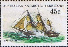 Australian Antarctic Territory 1979 Ships SG 49 L'Astrolabe Fine Mint Scott L49 Other Australian Antarctic Territory Stamps HERE