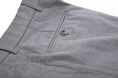 Wool Rich Grey Pants - Bespoke Shirts by Luxire. Custom made to Perfection