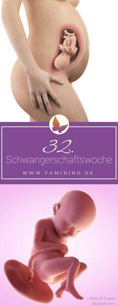 32. SSW (Schwangerschaftswoche): Dein Baby, dein Körper, Beschwerden und mehr