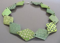 Lana, Polymer clay necklace showing some lovely mica shift from creafimo (Yvonne Broger).