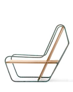 Michael Boyd Flip Lounge, 2011.  This design, Flip lounge chair, model R1201, from the Rod series, in steel and cotton. Acquired 2012 to the Collection of Architecture + Design of SFMOMA. #LoungeChair