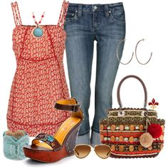 Red Cami, created by hatsgaloore on Polyvore