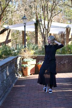 c103b4a9f 3 different ways to wear a sheer dress | Layer a sheer dress over jeans for