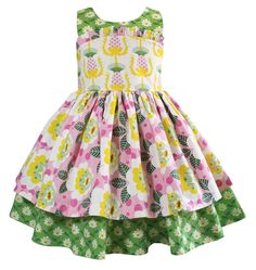 a0d97b6ef8d Little Girls Cotton Vintage-inspired dress is in a wonderful spring flower  mix of prints. Little Miss Marmalade