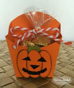 Stampin Up French Fry box: Jack-O-Lantern Treat Box pumpkin #stampinup
