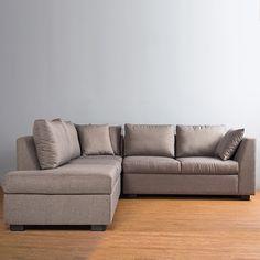 """La combinación de su tapiz con su forma y acolchonamiento, hacen de esta escuadra el diseño ideal para tu sala. Además cuenta con resortes independientes en su espuma lo cual mejorará el """"muelleo"""", confort y durabilidad del asiento."""