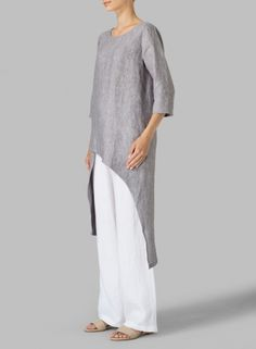 MISSY Clothing - Linen Asymmetrical Tunic