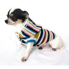 Bohemian Dog Hoodie Sweater Chihuahua Jacket Pet by myknitt, $33.00