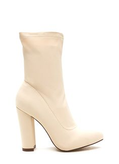 594661363e7 Smooth Talker Pointy Chunky Booties Smooth Talker