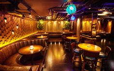 Three Dots and a Dash tiki bar, Chicago Via: UrbanDaddy  http://www.urbandaddy.com/chi/nightlife/25788/Three_Dots_and_a_Dash_The_Tiki_Playground_Under_Bub_City_Chicago_CHI_Bar