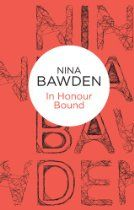 #NinaBawden  In Honour Bound [Kindle Edition] Johnny Prothero has everything. He was brought up in the closed, bright world of influence and wealth, and nourished on the old-fashioned virtues of duty, loyalty and courage. Up to the grim point at which this story opens, his life has perfectly suited him. He has had a splendid war, has made a good marriage, and his future seems laid out invitingly before him like a clean map—yet, in the first scene of this book, he is standing in the dock…